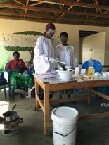 Village business: making soap