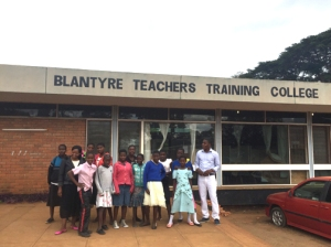 Our group at the Teachers Training College, Blantyre Malawi